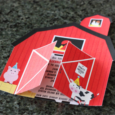Barnyard/ Farm Animal Invitation by Wants and Wishes