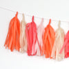 Flamingo Fringe Tissue Tassel Garland Kit or Fully Assembled