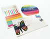 Butterfly Sticker tag with gold foil
