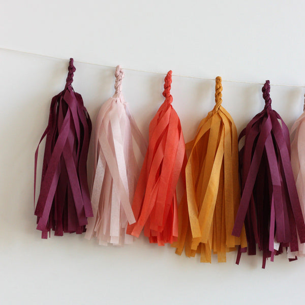 Give Thanks Thanksgiving Fringe Tassel Garland Kit or Fully Assembled