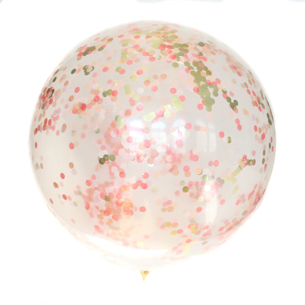 Glimmer Clear Confetti Balloon