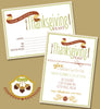 Glitzy Thanksgiving BLANK & Custom Dinner Invitations