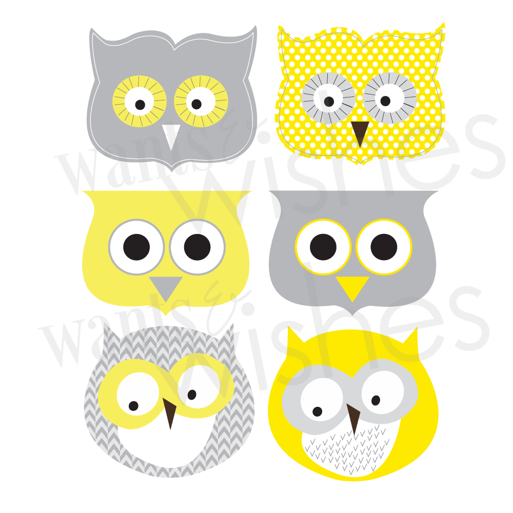 Sunshine Collection-Printable Owl Favor/Treat Bag Toppers