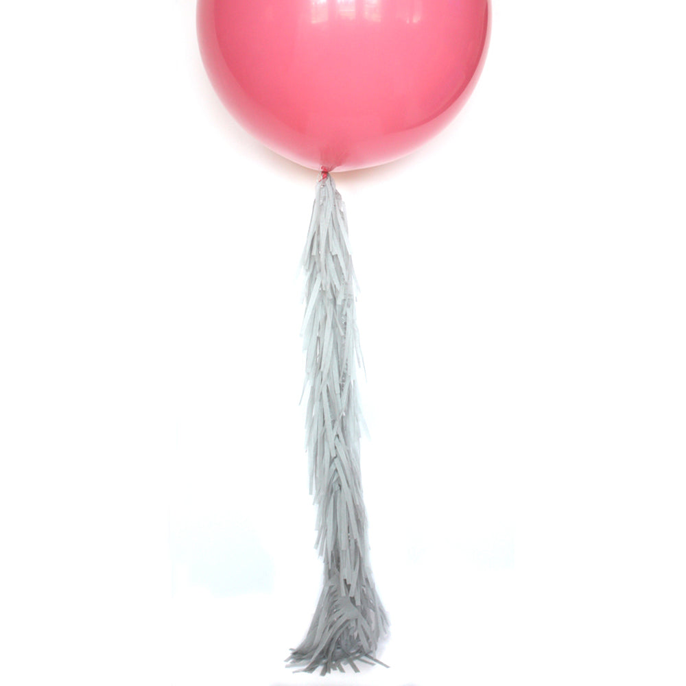Grey Frilly Balloon Tassel