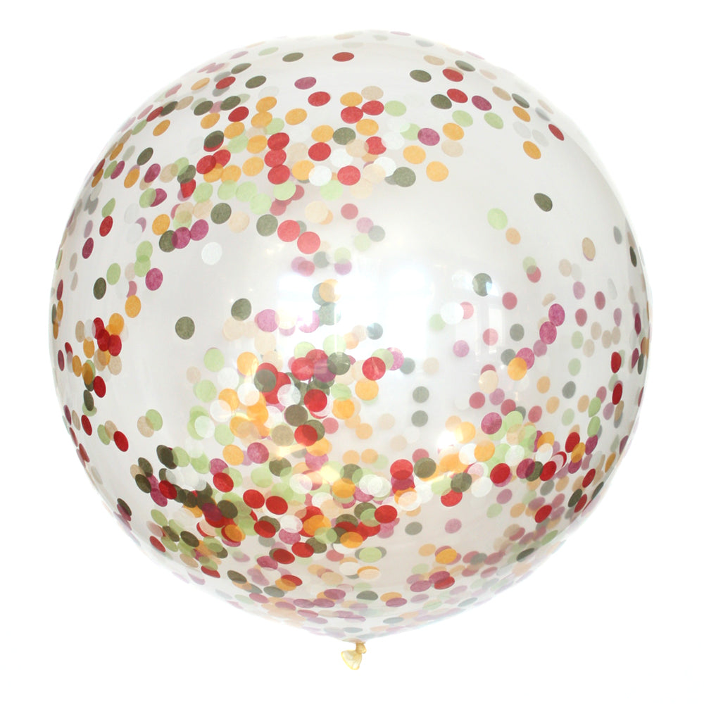 Harvest Confetti Balloon