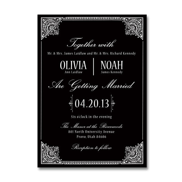 Hollywood Indulgence Wedding Invitations