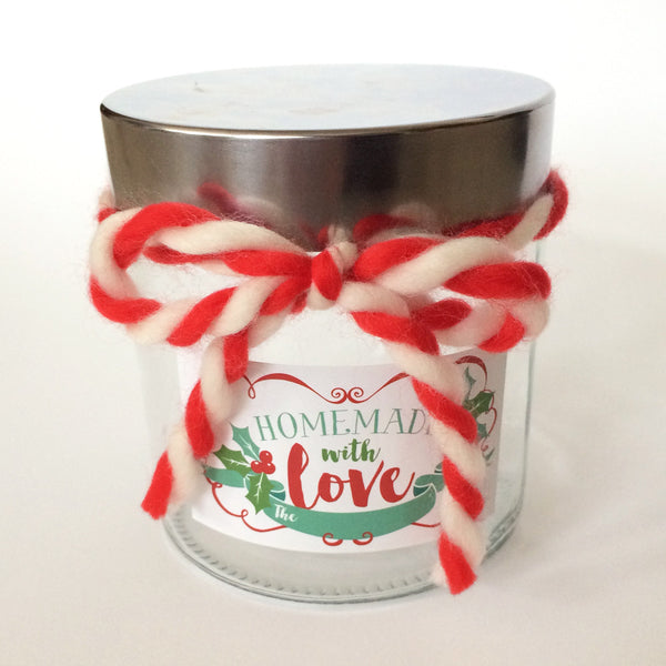 Homemade with Love Holiday Christmas Sticker tag