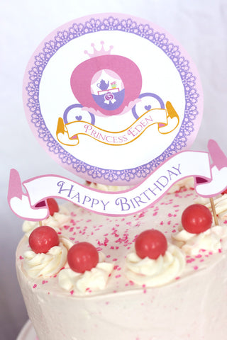 printable Princess Tea Party Birthday by Wants and Wishes