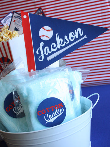 Vintage Baseball Birthday Party printables