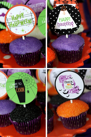 Halloween Glam Haunted House party printables