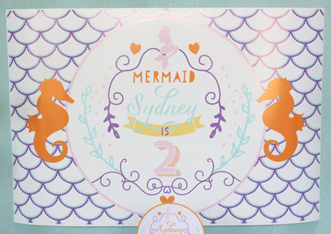 Magical Mermaid Birthday party printables