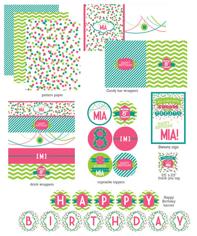 Confetti & Paper Lanterns printable party collection