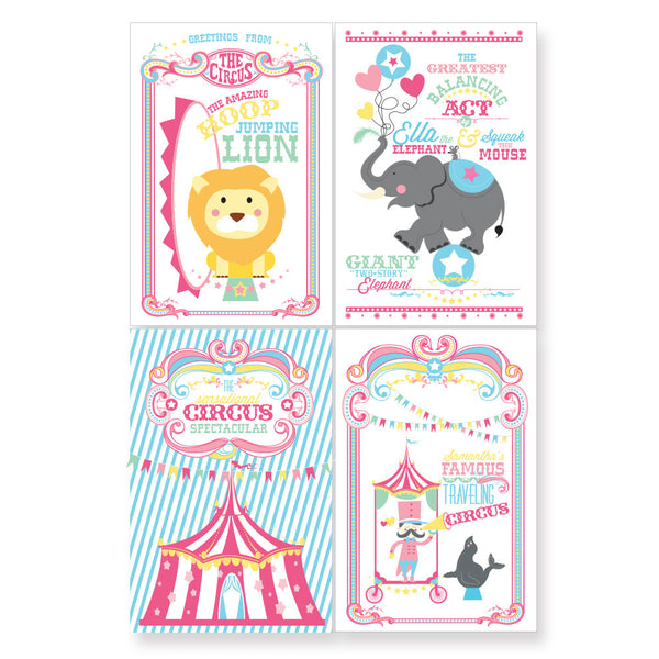 Coordinating printable Circus/ Carnival poster- Cotton Candy Girl Circus Collection