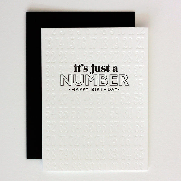 It's Just a Number Birthday Card