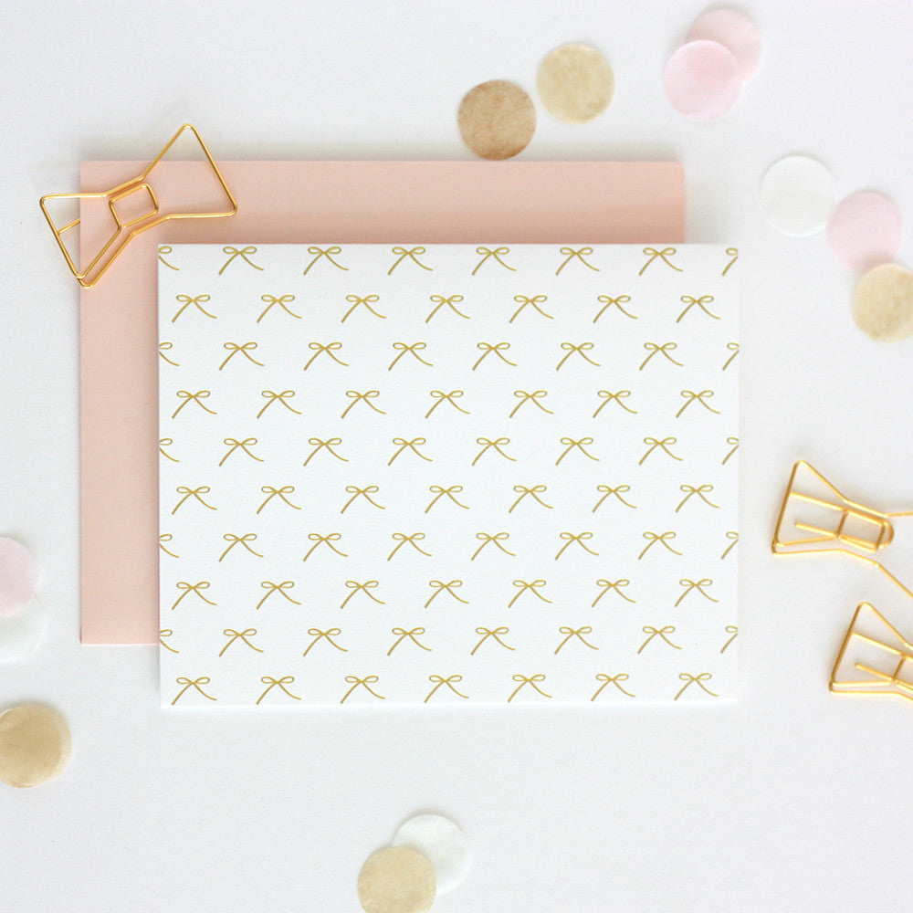 Mini Bows Notecard