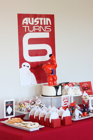 Big Hero 6 Inspired Birthday party printables
