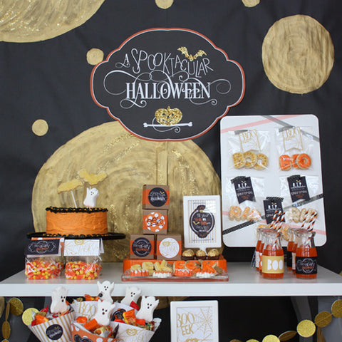 Gold Spooktacular Halloween Printable collection