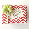 Jingle Merry Cheer Gold foil Holiday Christmas Sticker tag
