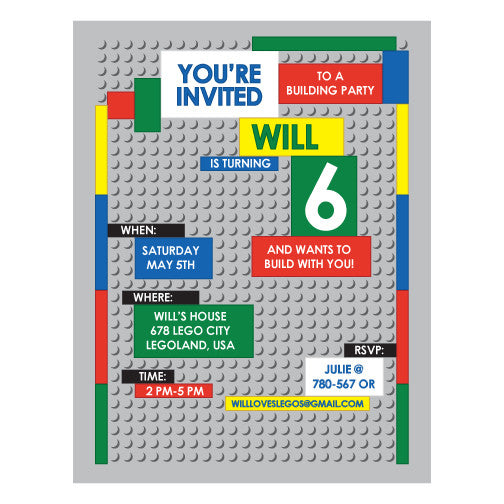 image about Printable Lego Invitations referred to as Lego Motivated Birthday Occasion printable Invitation through Requirements and Would like