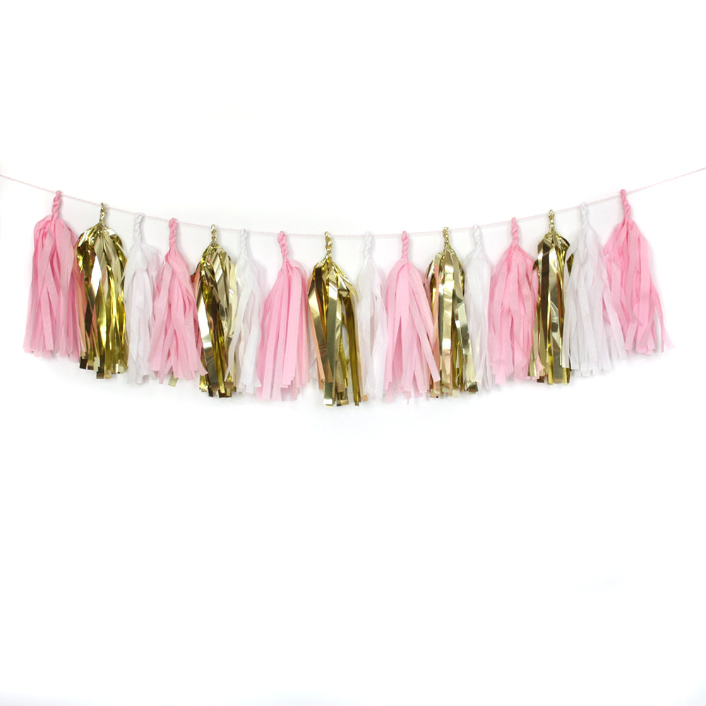 Little Princess Fringe Tissue Tassel Garland Kit or Fully Assembled