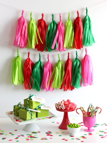 Merry & Bright Christmas Fringe Tassel Garland Kit