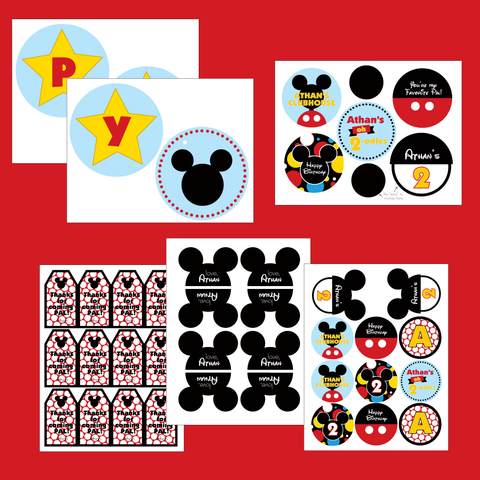 Mickey Mouse Clubhouse printable Birthday party collection