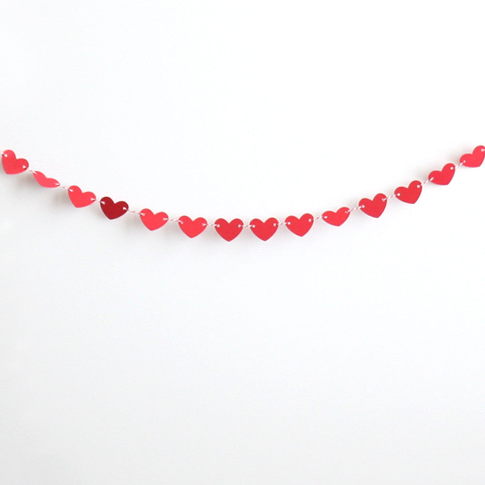 Mini Red Heart Banner Kit