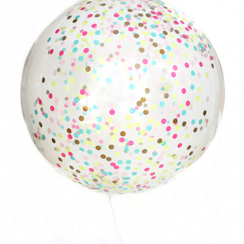 Neon Love Confetti Balloon