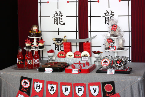 Printable Ninjago/ Ninja- FULL Birthday Party Collection