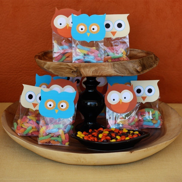 Printable Owl Favor/Treat Bag Toppers- Owl Birthday Party Collection