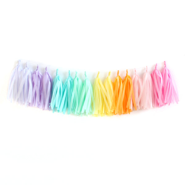Pastel Dreamin' Fringe Tassel Garland Kit or Fully Assembled
