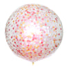 Peaches and Cream Confetti Balloon
