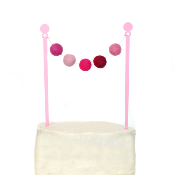 Perfectly Pink Cake Bunting Topper