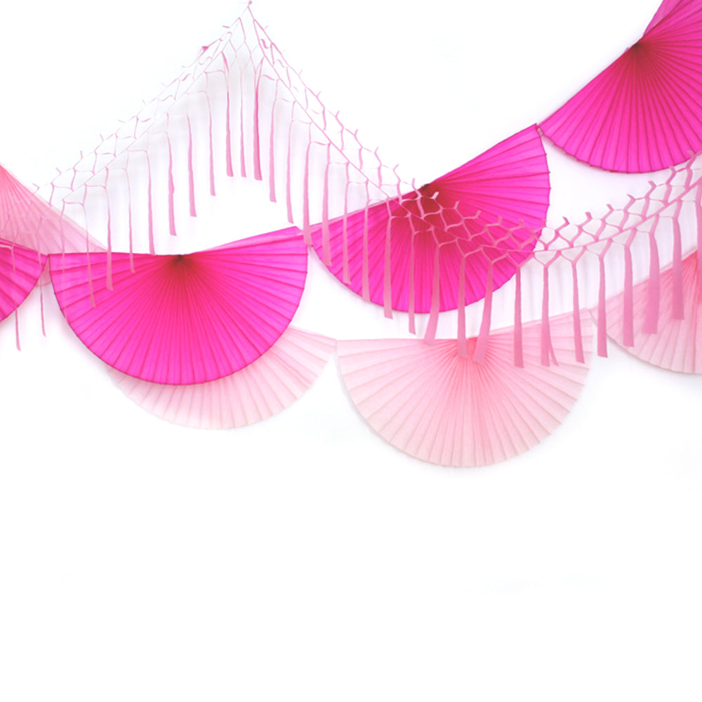 Perfectly Pink Fan Bunting Garland