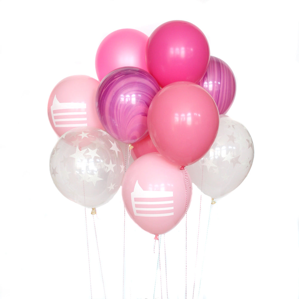 Pink Marble Cake Deluxe Party Balloon