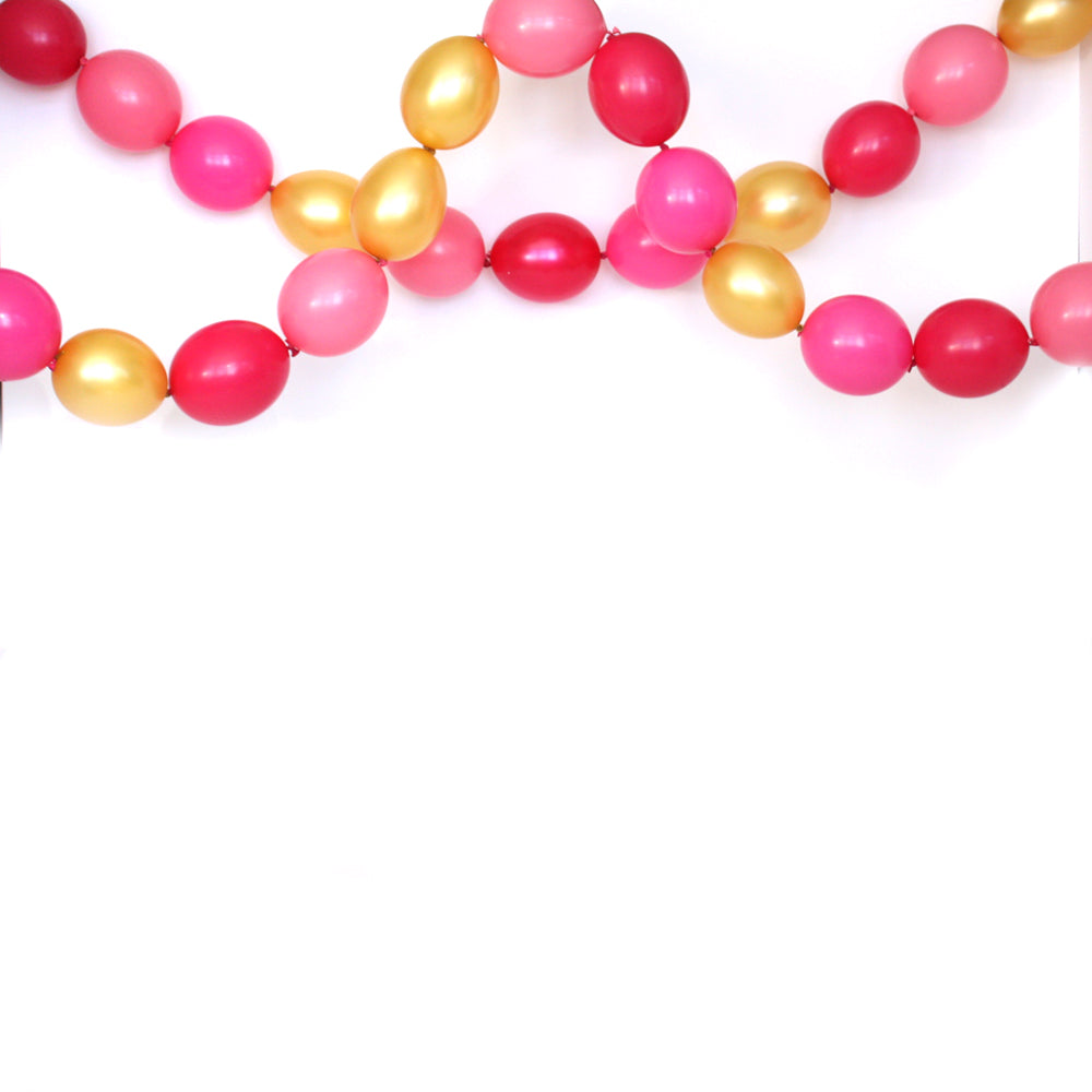 Pink Glam Link Balloon Garland