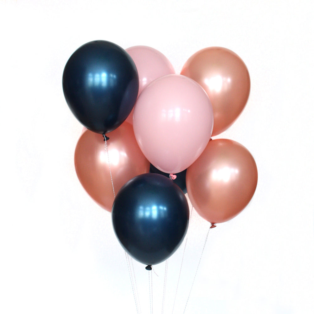 Blushing Midnight Balloon Bundle