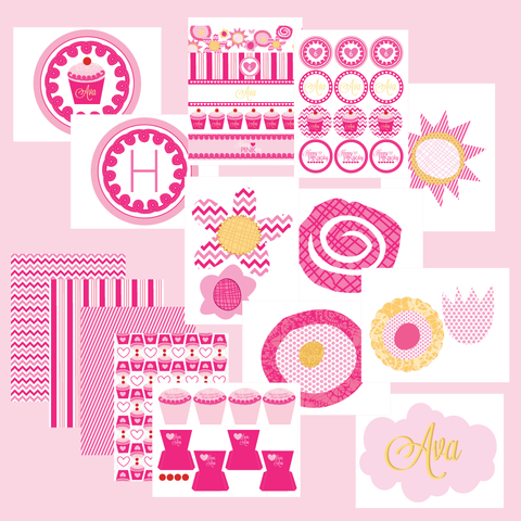 printable Pinkalicious Inspired Birthday Collection- by Wants and Wishes