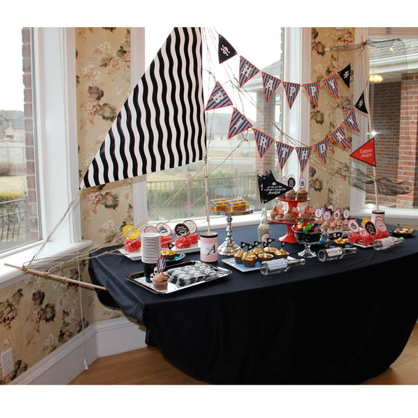 Pirate Ship Kit for dessert table or photo booth