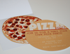 Pizza Box with 2 sided Pizza Party printable Invitation by Wants and Wishes