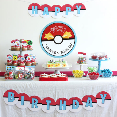 printable POKEMON birthday party collection