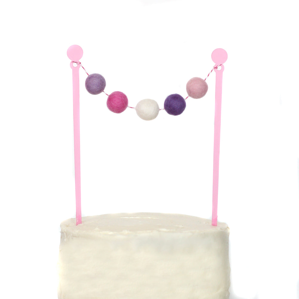 Princess Cake Bunting Topper