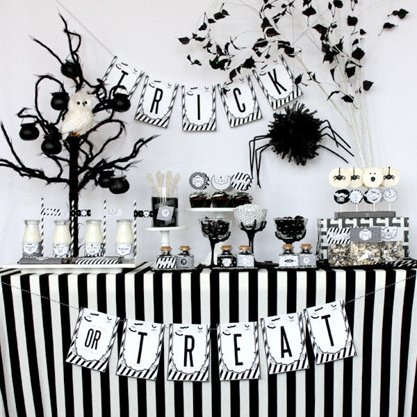 Black and White Sophisticated printable Halloween Collection