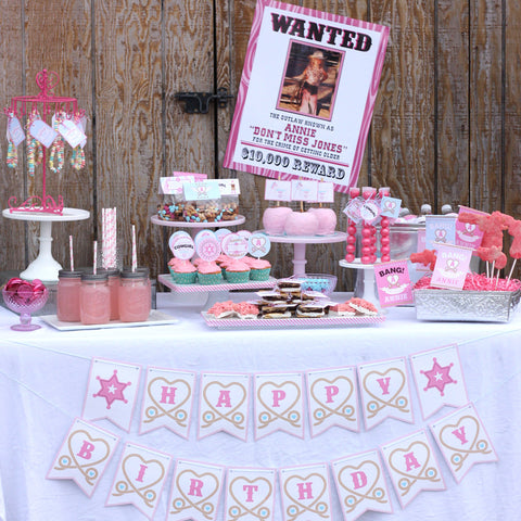 Western Cowgirl printable Birthday party