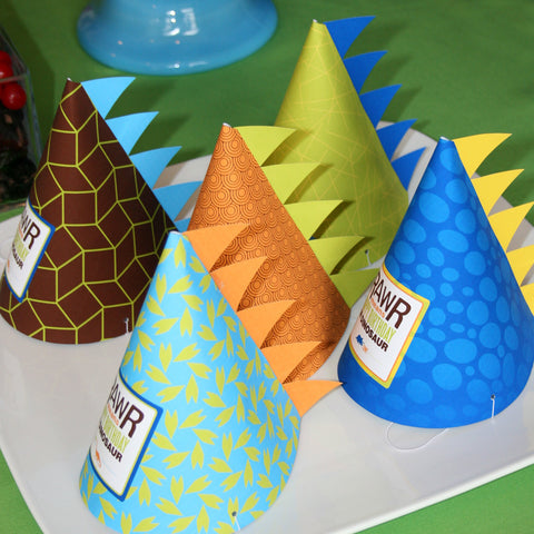 printable Dinosaur Party hats