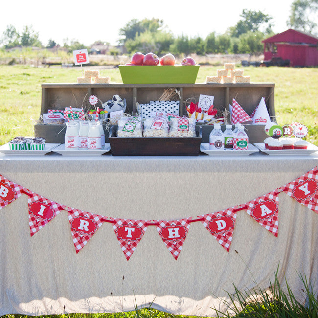Vintage Barnyard printable party collection