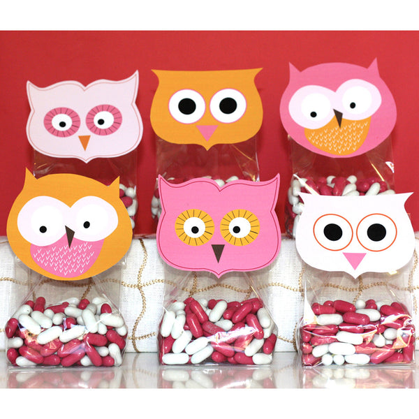 printable Owl favor toppers- Sherbet Collection