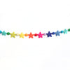 Rainbow Stars Felt Ball Garland