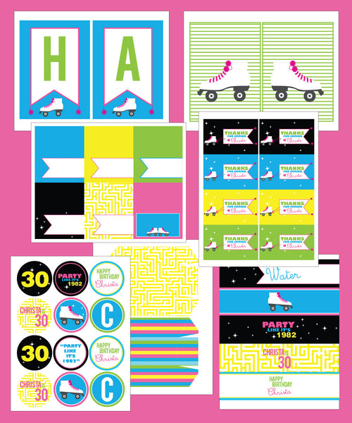 Roller Skate Birthday party Collection