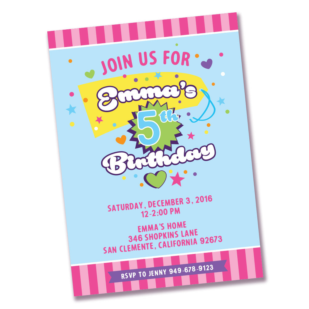 image regarding Shopkins Printable Invitations named Shopkins printable Invitation Needs and Needs